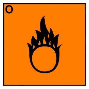 Schild Gefahrstoffzeichen brandfördernd Hazard_O