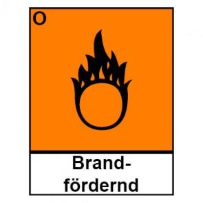 Schild Gefahrstoffzeichen brandfördernd Hazard_O (Piktogramm+Text)