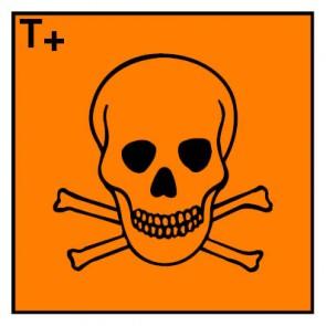 Gefahrstoffzeichen sehr giftig Hazard_T · Magnetschild - Magnetfolie