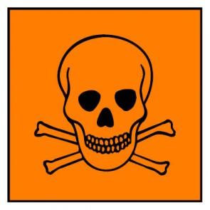 Aufkleber Gefahrstoffzeichen giftig Hazard_T