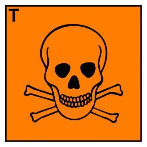 Gefahrstoffzeichen giftig Hazard_T · Magnetschild - Magnetfolie