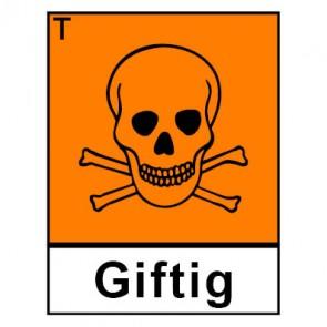 Aufkleber Gefahrstoffzeichen giftig Hazard_T (Piktogramm+Text) | stark haftend
