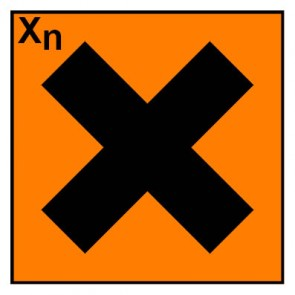 Schild Gefahrstoffzeichen gesundheitsschädlich Hazard_X