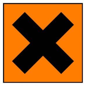 Aufkleber Gefahrstoffzeichen reizend Hazard_X