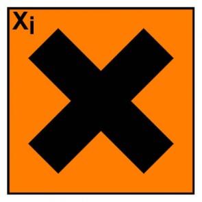 Gefahrstoffzeichen reizend Hazard_X · Magnetschild - Magnetfolie