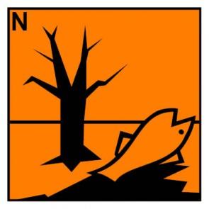 Gefahrstoffzeichen umweltgefährlich Hazard_N · Magnetschild - Magnetfolie