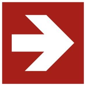 Aufkleber Brandschutzzeichen Pfeil Richtungsangabe gerade