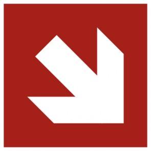 Aufkleber Brandschutz Pfeil Richtungsangabe schraeg ISO7010