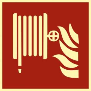 Brandschutzzeichen Schild Löschschlauch · NACHLEUCHTEND