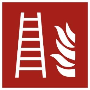 Aufkleber Brandschutz Feuerleiter ISO7010