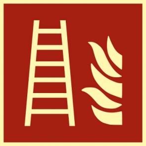 Brandschutzzeichen Schild Feuerleiter · NACHLEUCHTEND
