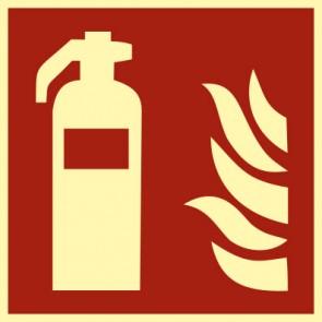 Brandschutzzeichen Schild Feuerlöscher · NACHLEUCHTEND