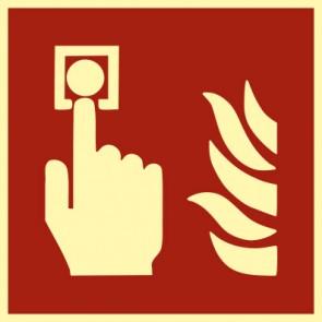 Brandschutzzeichen Schild Brandmelder · NACHLEUCHTEND