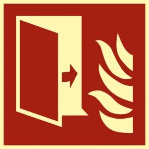 Brandschutzzeichen Schild Brandschutztür · NACHLEUCHTEND