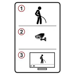 Schild Pinkeln Video TV