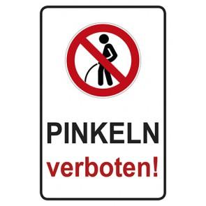 Schild Pinkeln verboten