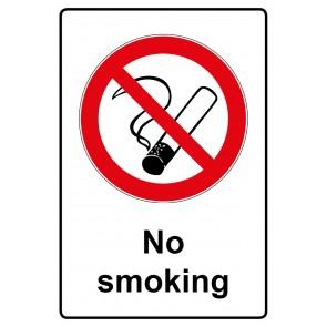Verbotszeichen Sticker | Aufkleber · No smoking