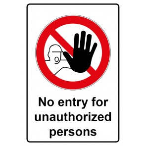 Verbotszeichen Sticker| Aufkleber · No entry for unauthorized persons