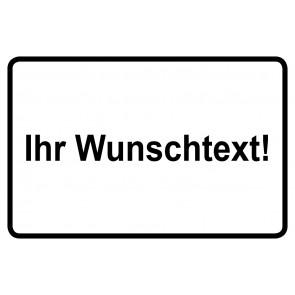 Baustellenschild Wunschtext | schwarz · weiß