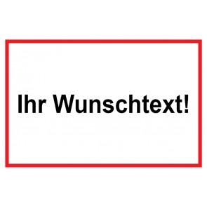 Baustellenschild Wunschtext | weiß · rot