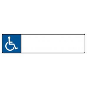 Behinderten Kennzeichenschild zum selbst Beschriften