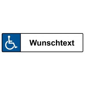 Behinderten Kennzeichenschild Wunschtext · MAGNETSCHILD (Magnetfolie)