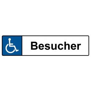 Behinderten Kennzeichenschild Besucher · MAGNETSCHILD (Magnetfolie)
