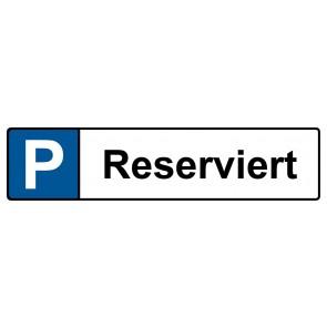 Kennzeichenschild reserviert