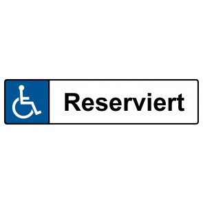 Behinderten Kennzeichenschild reserviert · MAGNETSCHILD (Magnetfolie)