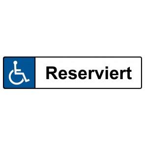 Behinderten Kennzeichenschild reserviert