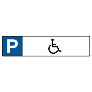 Kennzeichenschild mit Behinderten Symbol