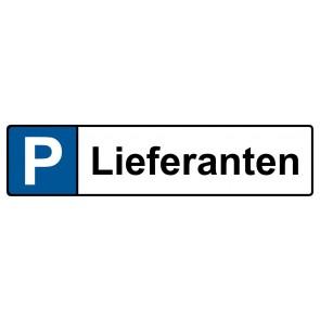 Kennzeichenschild Lieferanten · MAGNETSCHILD (Magnetfolie)