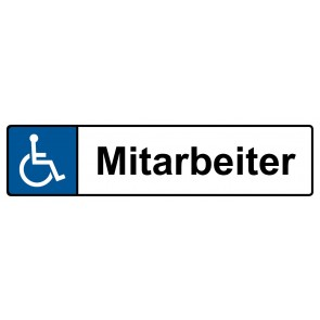 Behinderten Kennzeichenschild Mitarbeiter