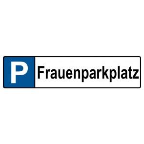 Kennzeichenschild Frauenparkplatz