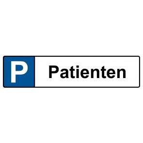 Kennzeichenschild Patienten