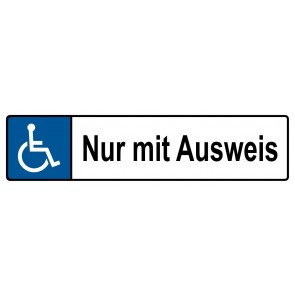 Behinderten Kennzeichenschild nur mit Ausweis