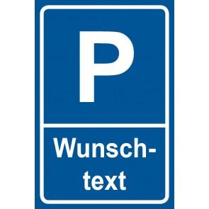 Parkschild Wunschtext