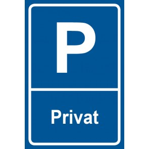 Parkschild Privat
