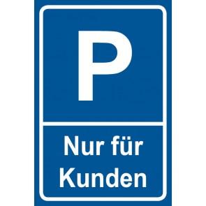 Parkschild Nur für Kunden · MAGNETSCHILD (Magnetfolie)