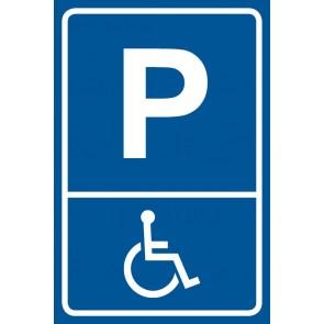 Aufkleber Parkschild Behindertenparkplatz