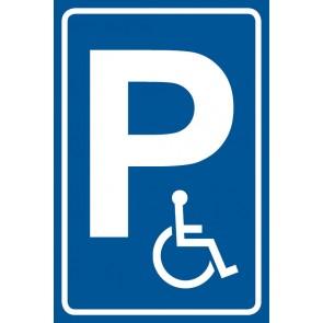 Parkschild Nur für Behinderte · MAGNETSCHILD (Magnetfolie)