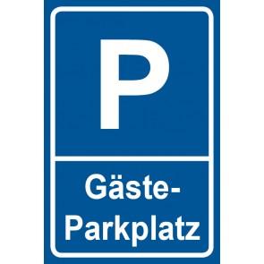 Parkschild Gästeparkplatz · MAGNETSCHILD (Magnetfolie)