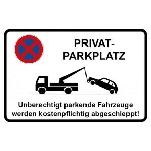 Parkverbotsschild Privatparkplatz · MAGNETSCHILD (Magnetfolie)