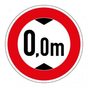 Schild Durchfahrtshöhe Wunschziffer