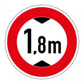 Schild Durchfahrtshöhe 1,8 Meter