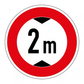 Schild Durchfahrtshöhe 2 Meter
