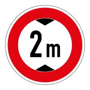 Aufkleber Durchfahrtshöhe 2 Meter