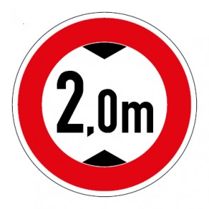 Schild Durchfahrtshöhe 2,0 Meter