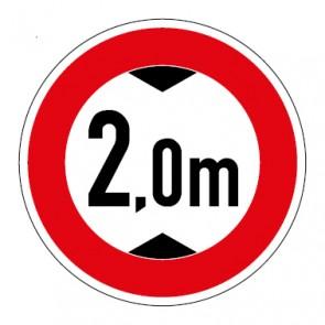 Aufkleber Durchfahrtshöhe 2,0 Meter