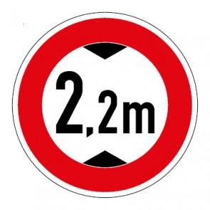 Schild Durchfahrtshöhe 2,2 Meter